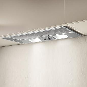 Elica Elibloc 9 LX Silver F/60 Encastrada Plata 430m³/h - Campana (430 m³/h, Recirculación, 63 dB, Encastrada, Plata, 40 W): Amazon.es: Grandes electrodomésticos
