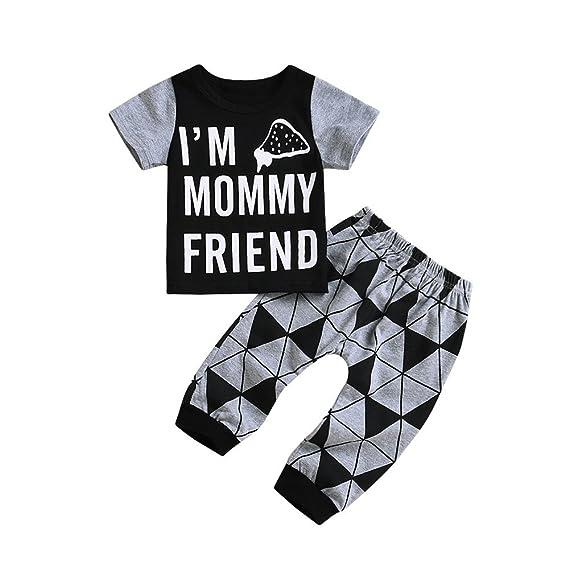 ❤️Ropa de Bebés Lonshell Letra Impresión Camiseta Patrones Geométricos Pantalones Algodón ️Ropa de moda de 2018: Amazon.es: Ropa y accesorios