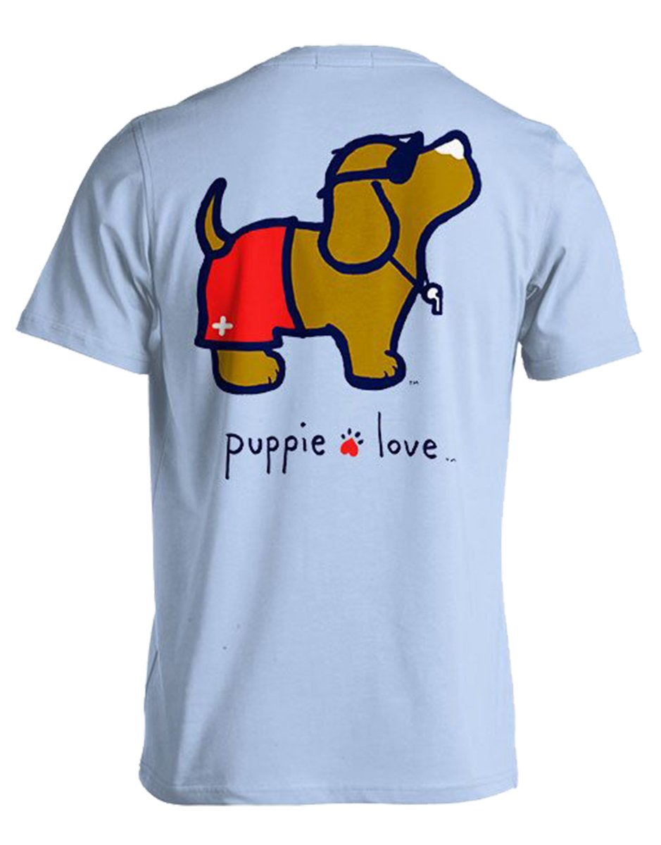 Puppie Love Lifeguard Pup Help Rescue Dogs T-Shirt-Large
