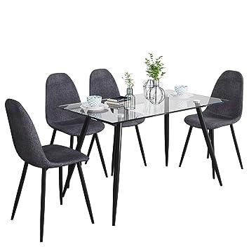 Merveilleux Stream Ensemble Table De Salle à Manger Et Chaises Avec 4 Chaises De Salle  à Manger