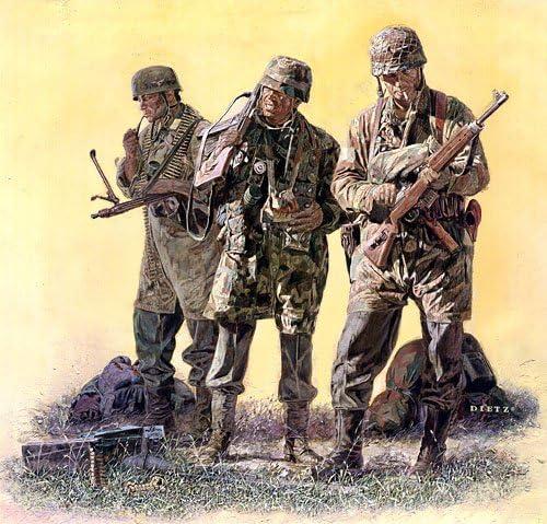 "/""Opposite Numbers/"" James Dietz Print WW II German Paratroopers"
