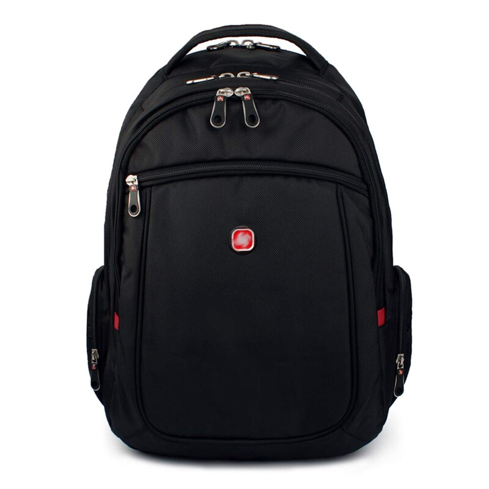 メンズバックパックビジネスバッグレジャーバッグスクールバッグラップトップバッグ旅行バッグバックパック軍用パッケージ - 大容量充電式多機能 ZHML (色 : Student black, サイズ さいず : 32*46*18cm) 32*46*18cm Student black B07R8RSK21