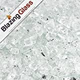 Blazing Fireglass 20-Pound Fire Glass with Fireplace Glass and Fire Pit Glass, 1/4-Inch, Star Fire