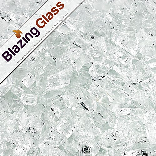 Blazing Fireglass 20-Pound Fire Glass with Fireplace Glass and Fire Pit Glass, 1/4-Inch, Star Fire by Blazing Glass