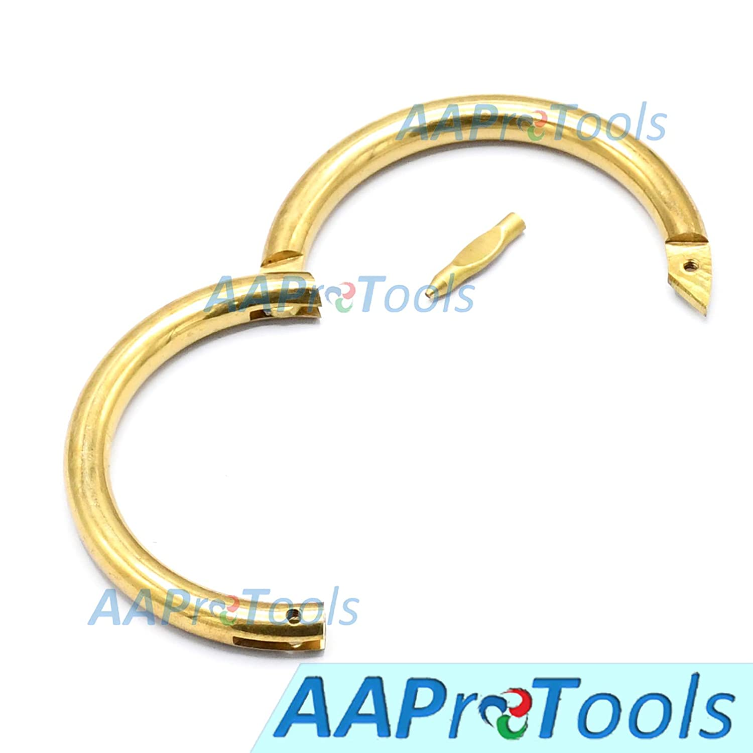 AAProTools Bull Cow Nose Ring Screw Animal Brass Cattle Farm Ranch Show Halter Livestock Veterinary