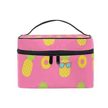 d1d76e382cb9 Amazon.com : Pink Mini Pineapple Sheets Travel Toiletry Bag Cosmetic ...