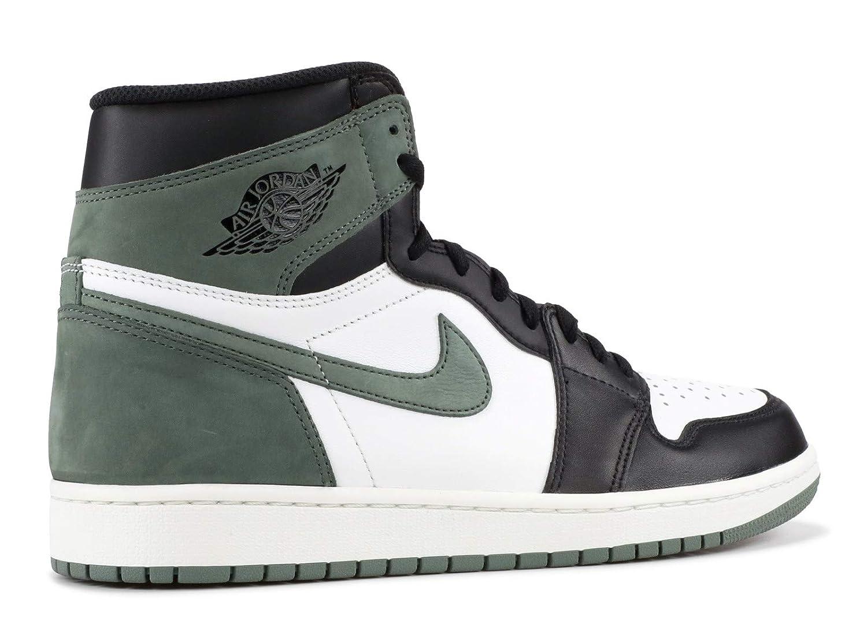 95e5f66bd9eb5 Amazon.com: Nike Air Jordan 1 Retro High OG 555088 135 Clay Green: Shoes