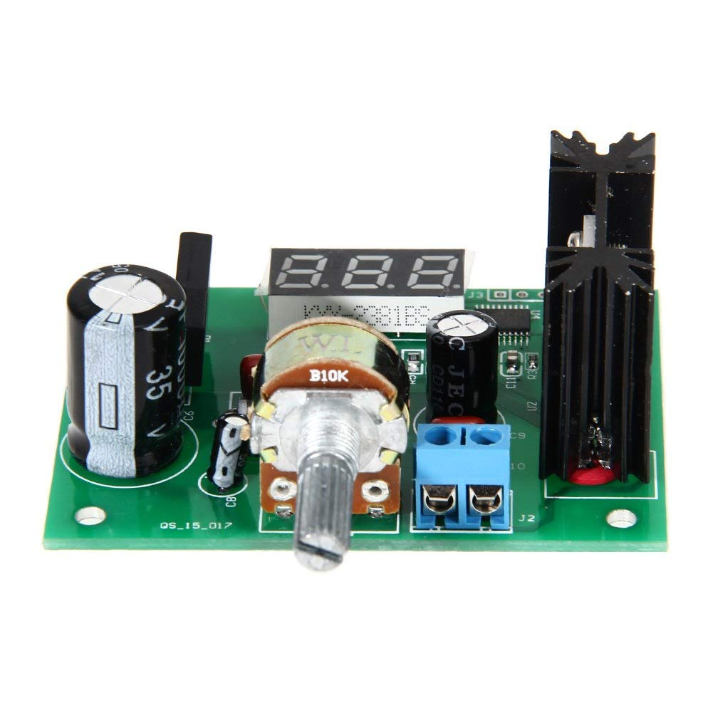 Xucus Lm317 Ac Dc Adjustable Voltage Regulator Step Down Power Electronics Engineering Eee Variable Supply Module With Led Display 2a Industrial Scientific