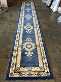 Traditional Long Persian Runner Rug Light Blue Design #121 (32 Inch X19 Feet 8 Inch )