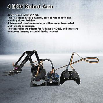 Taidda Robot Brazo mecánico, Robusto, Duradero 4DOF Brazo robótico ...