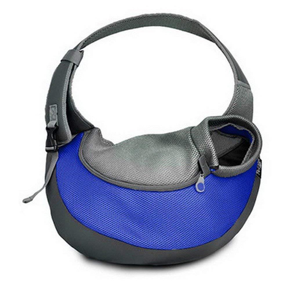 Large Pet Carrier, Hands-Free Shoulder Bag, Soft and Breathable Mesh Travel Bag, Adjustable Shoulder Strap and Zipper, Suitable for Dogs and Cats