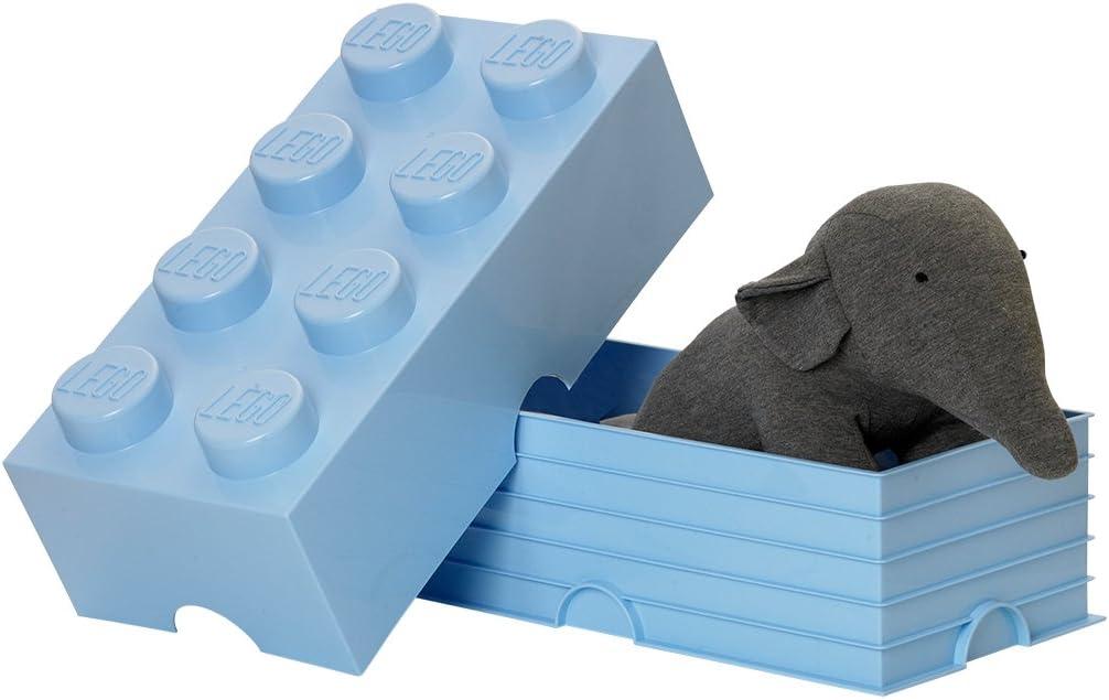 hellblau 12 l LEGO Aufbewahrungsstein 8 Noppen Stapelbare Aufbewahrungsbox