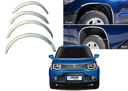 Caro Manic Premium Quality Wheel Arches Fender Trim Arch Tuning Chrome Set Of 4Pcs