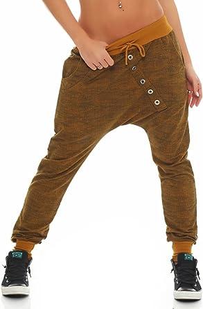 """Malito Pantaloni Boyfriend en el /""""Tejer/"""" Design Baggy Aladin Bombacho Sudadera 7398 Mujer Talla /Única"""