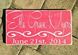 Custom Rustic Baby Name 14″x8″ (Choose Color) Rustic Shabby Chic Sign Review