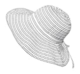 Packable Ribbon Crusher Sun Shade Beach Hat, Adjustable Wide Shapeable Brim, SPF UPF 50 UV Protection (White)