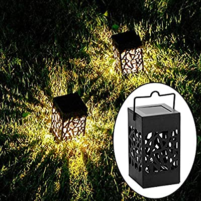 Twinkle Star 8 Pack Outdoor Solar Lanterns Hanging Solar Lights with Handle, Christmas Garden Tree Yard Patio Holiday Decorations