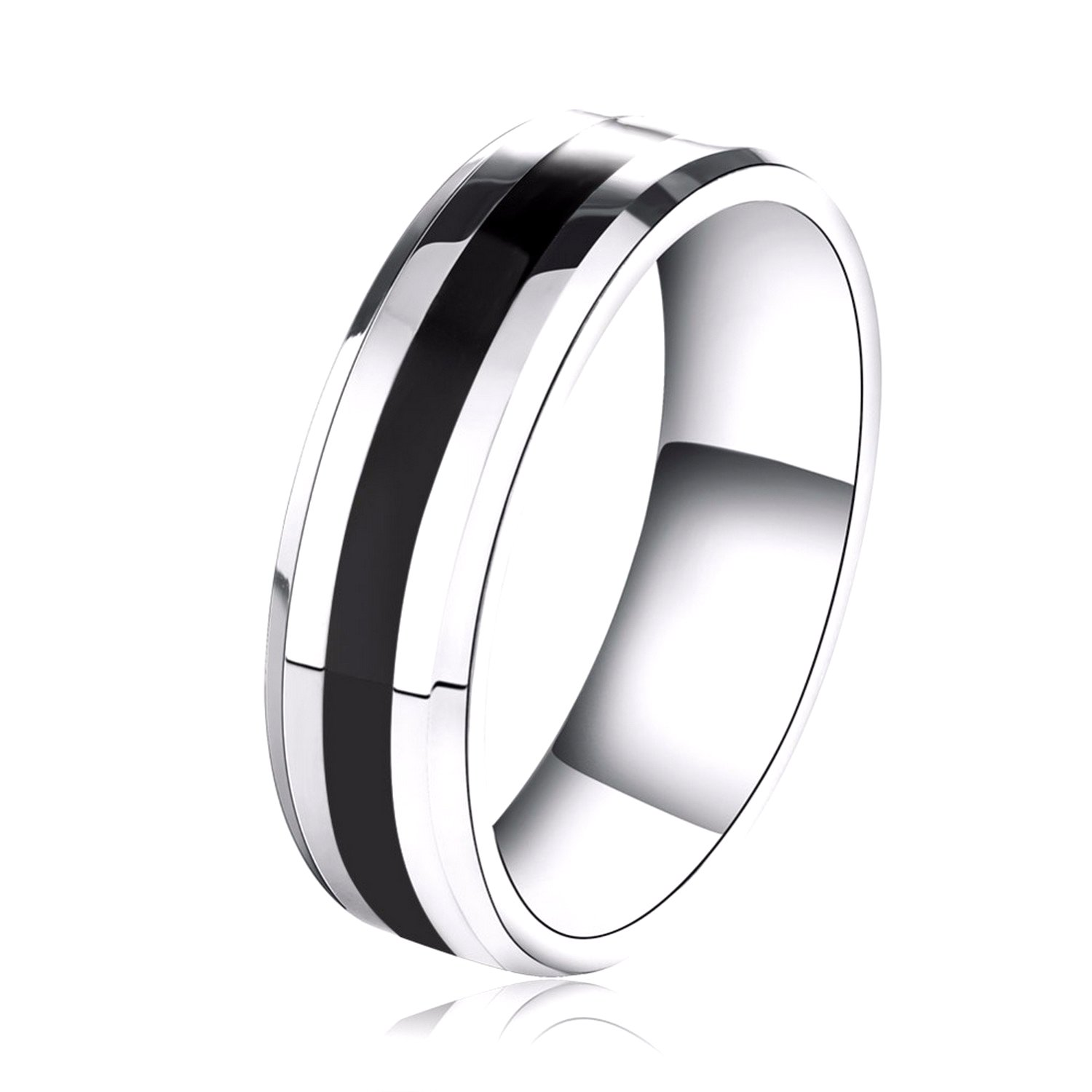 Dudee 316L Stainless Steel Couple Style Wedding womens engagement rings fashion rings for women