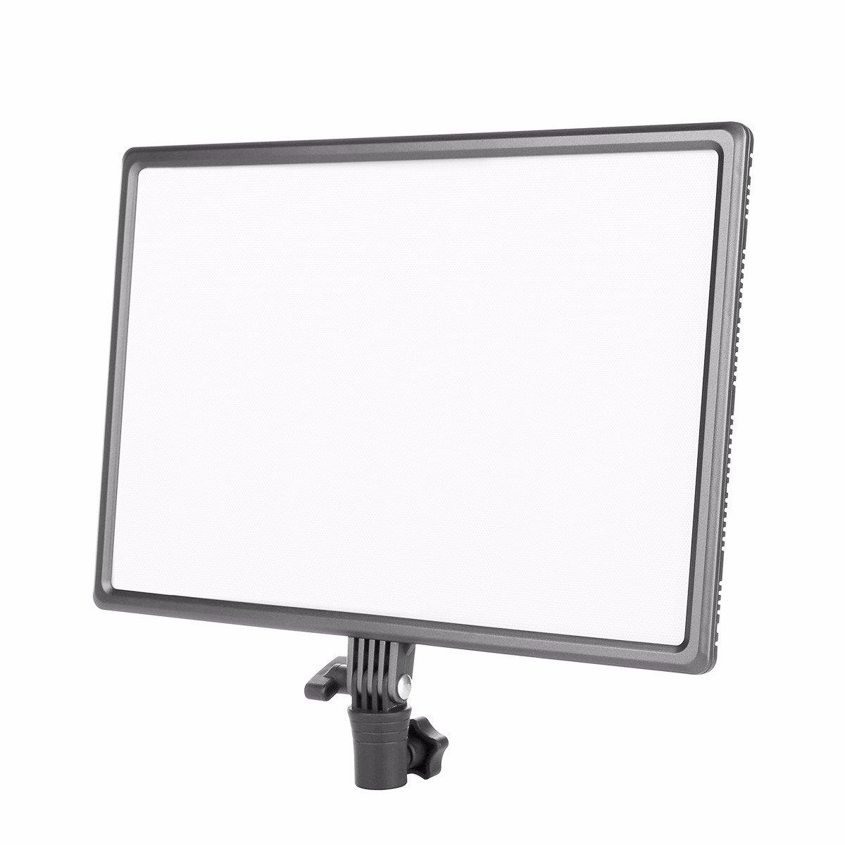 Eoogere LED ビデオライト 超薄型 カメラ&ビデオカメラ写真撮影用ライト 3200K-5600K 色温度輝度調整 AC電源アダプター付き Led ライト+AC アダプター  B01N95N7AW