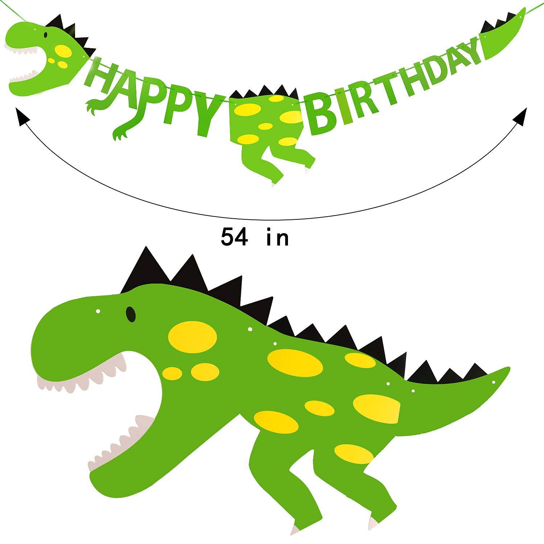 Tacobear 111pcs Dinosaurio Cumpleaños Decoración Dinosaurios Globos Dinosaurio Banner Dinosaurios Magdalena Cupcake Topper para Dinosaurio Fiesta ...