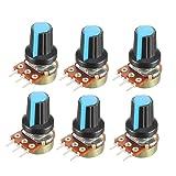 uxcell 6Pcs 50K Ohm Variable Resistors Single
