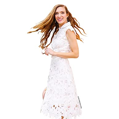 Chicwish womens white floral lace crochet flared sleeveless a line chicwish womens white floral lace crochet flared sleeveless a line midi dress mightylinksfo