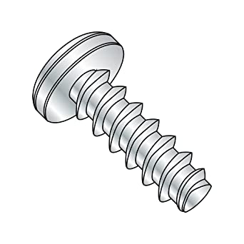 Thread Size #8-18 FastenerParts Rounded Head Thread-Forming Screw for Brittle Plastic Steel