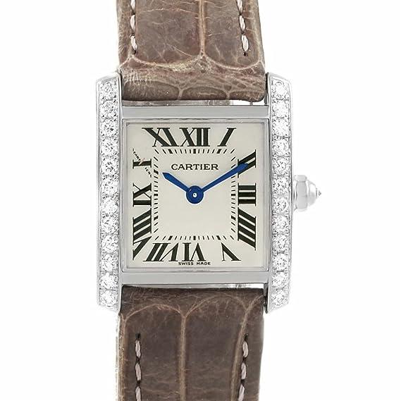 Cartier Tank Francaise WE100231 - Reloj de Cuarzo para Mujer (Certificado de autenticidad)