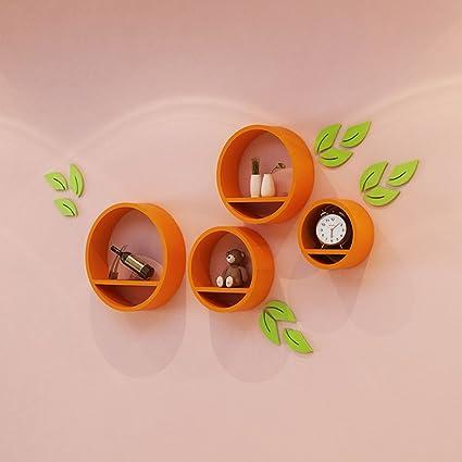 Amazon Creative Circular Wall Shelf Living Room Round Bedroom