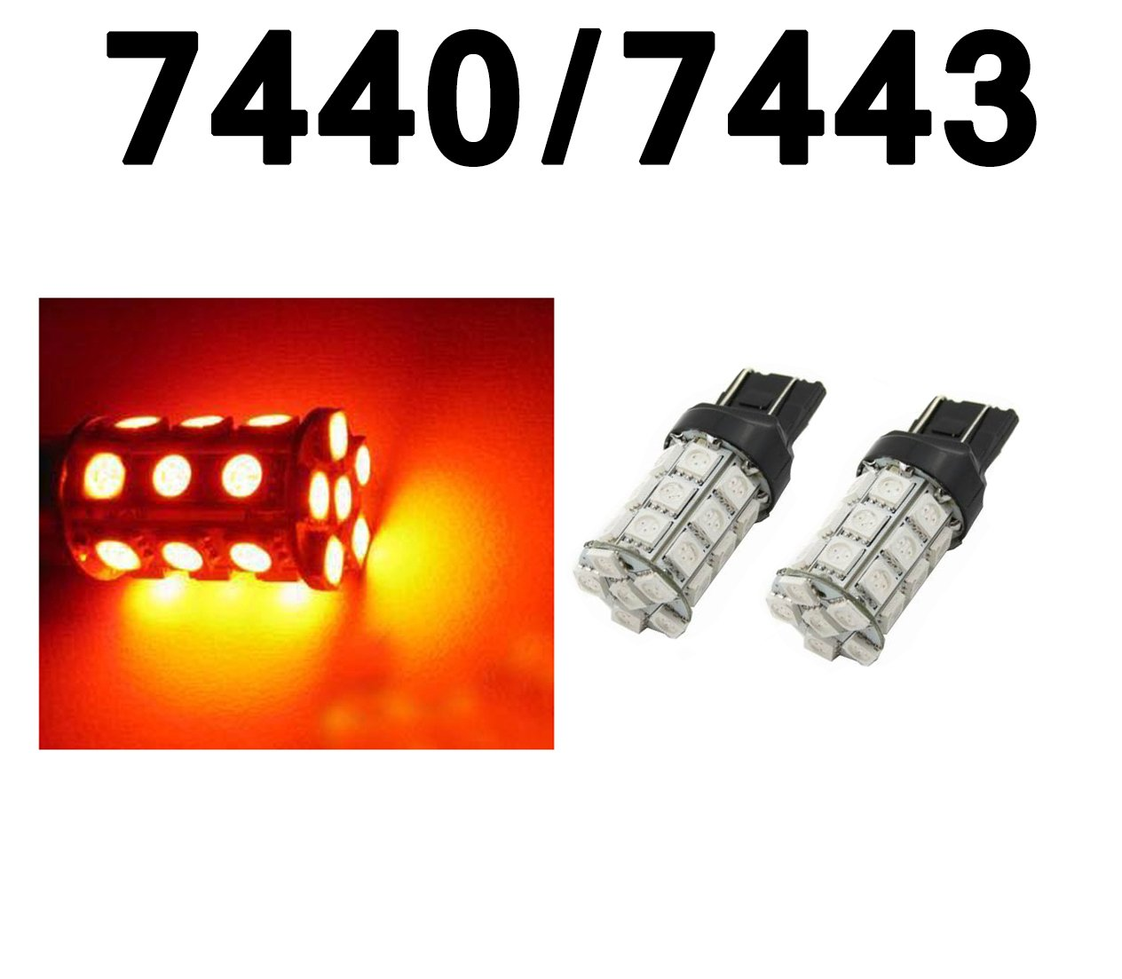 Autolizer 7440 7443 27 Smd 5050 Led Replacement Bulbs Traffic Light Diagram Car Tuning Red For Turn Signal Corner Stop Parking Reverse And