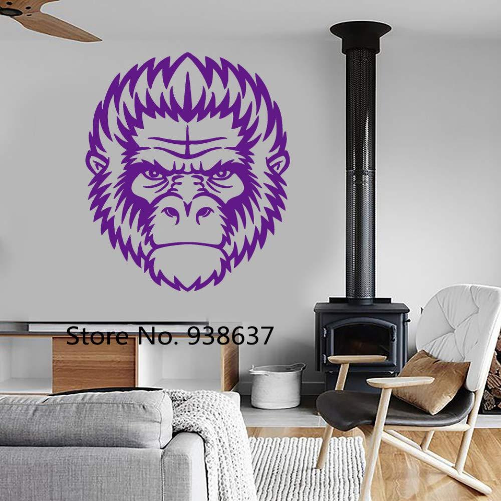 zqyjhkou Animal Mammal Decals Mural Living Room Decor Gorilla ...