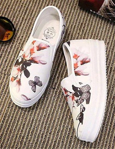 exterior Casual White Cn39 plataforma tela Zq Uk6 Zapatos comfort Eu39 Eu36 negro Blanco us8 mocasines White Gyht Mujer Cn36 us6 De Uk4 708Fq