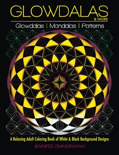 Glowdalas More An Adult Coloring Book Of White And Black