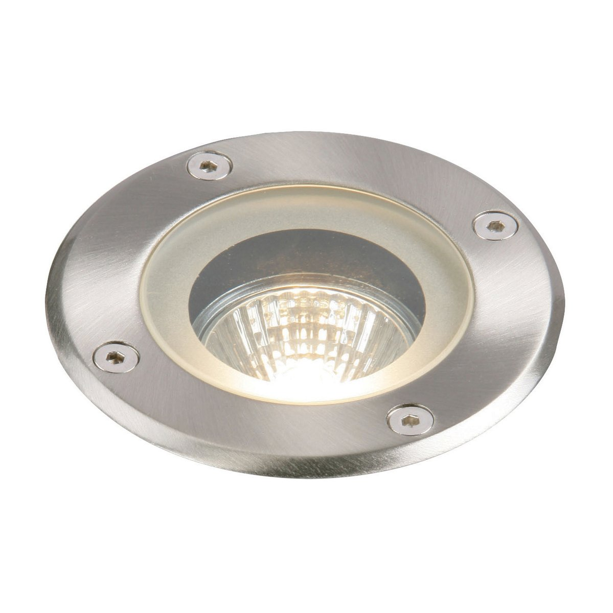 Square Outdoor Weatherproof GU10 Walk Over Decking Lights IP65 Rated Pack of 4 Buried Uplighters Recessed Ground Lights