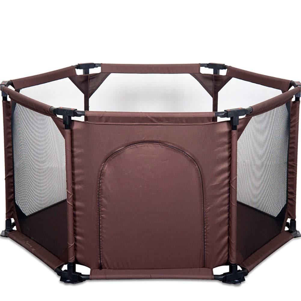 TLMY ベビーPalypen 6パネルを折りたたみ子供のベビーサークルを組み立てる ベッドガードレール   B07SP961WG