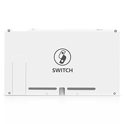 BASSTOP White Back Plate DIY Replacement Housing Shell Case for NS NX  Switch Console Without Electronics (Switch-White)