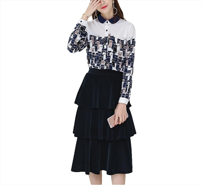 Mode lange Ärmel Kleid Chiffon Kleid - weiß