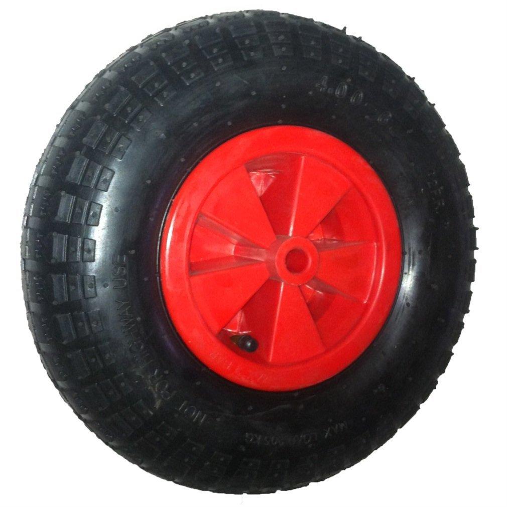 Blackpoolal 12 Komplett Schubkarre Rad Reifen 16mm Achse Reduzierst/ück Luftreifen f/ür Garten Trolley//Schubkarre//GO CART//Trailer Truck Rot /& Schwarz