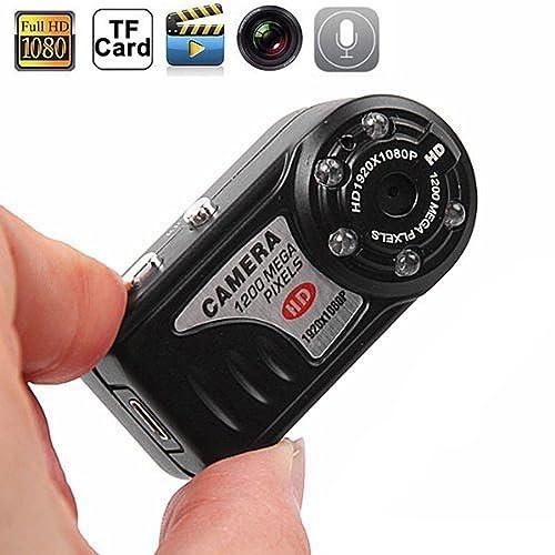 Paishida 16GB HD 1080P Spy Camera Thumb Mini DV IR Night Vision 1920 x 1080 Portable Car Monitor Hidden Detection Camcorder Video Recorder