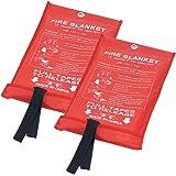 Fire Blanket Fiberglass Fire Emergency Blanket Suppression Blanket Flame Retardant Blanket Emergency Survival Safety…