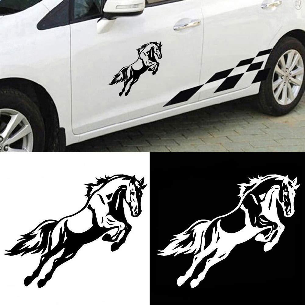 NANIH Home Cheval de Saut imprim/é Autocollant de Voiture Autocollant carrosserie de Camion Bricolage r/éfl/échissant d/écalque pour Ford Mercedes-Benz BMW Volkswagen Passat Audi Diesel d/écapotable
