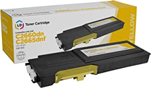 LD Compatible Toner Cartridge Replacement for Dell 593-BBBR High Yield (Yellow)