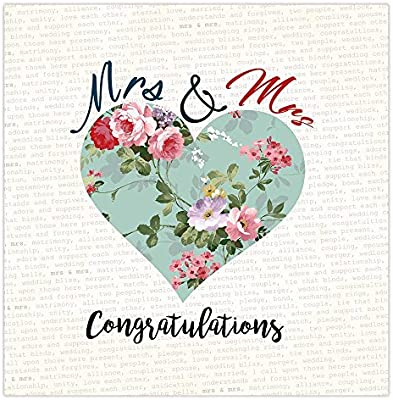 Mrs y señora tarjeta del día de la boda, boda Gay ...