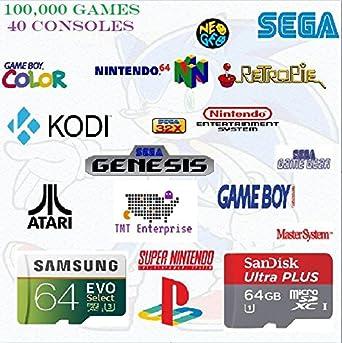 Amazon com: 64GB Retropie With 100,000 Games, KODI, and