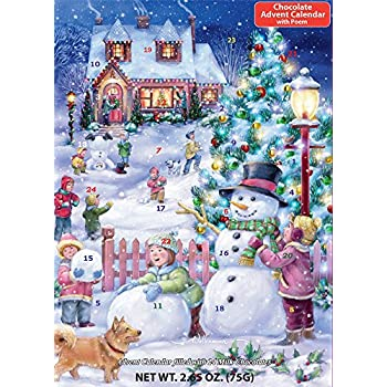 Amazon.com: Naughty or Nice Chocolate Advent Calendar (Countdown ...
