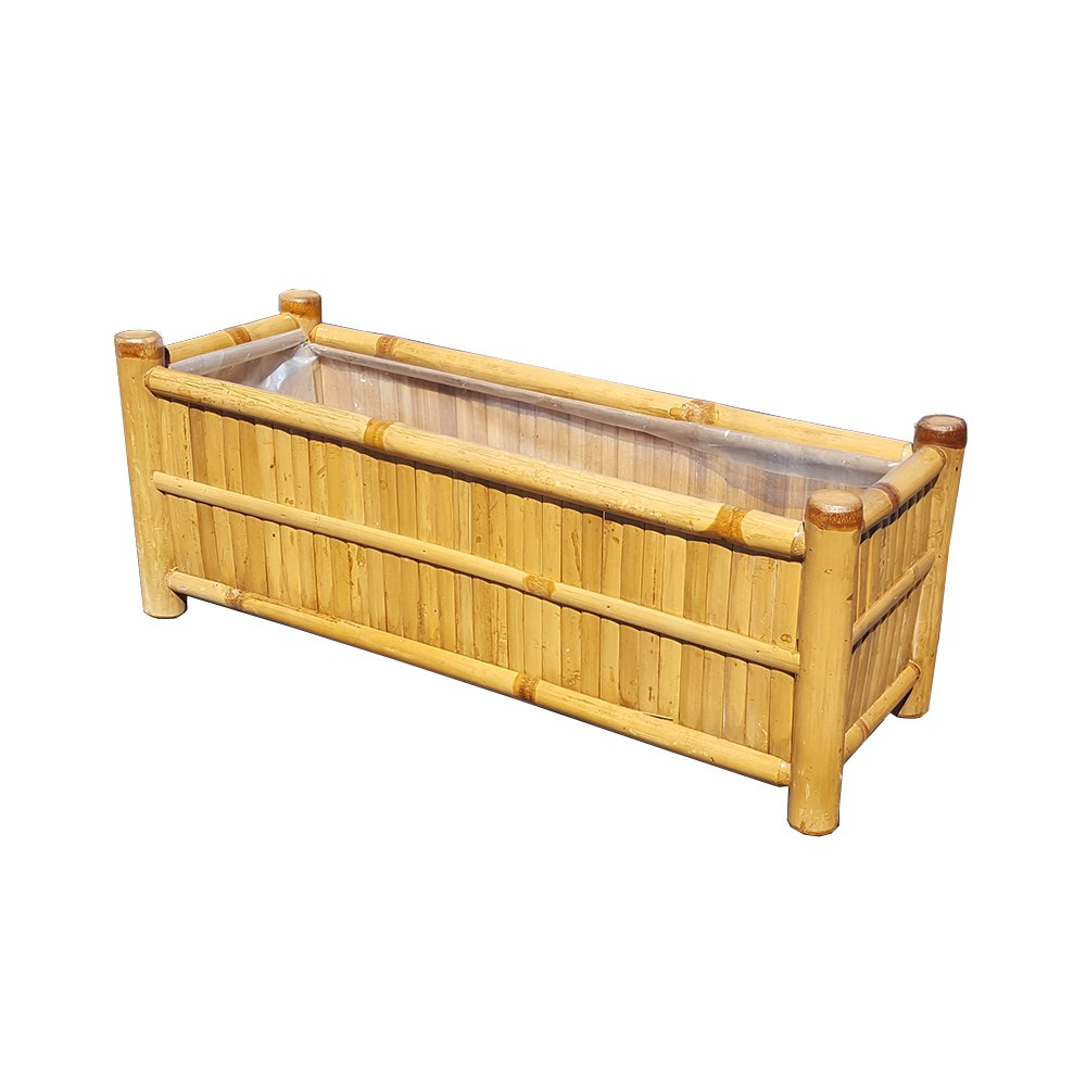Deck Rail Top Bamboo Planter, BWB-48, 48''W x 9''W x 9''H by Master Garden Products