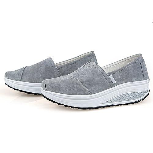 73798cf90cd JITIAN - Zapatillas de Running de Ante Mujer  Amazon.es  Zapatos y  complementos