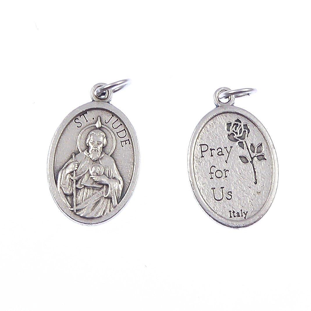 St. Jude catholique pendentif médaille - argent 2cm couleur métallique R.Heaven judemed