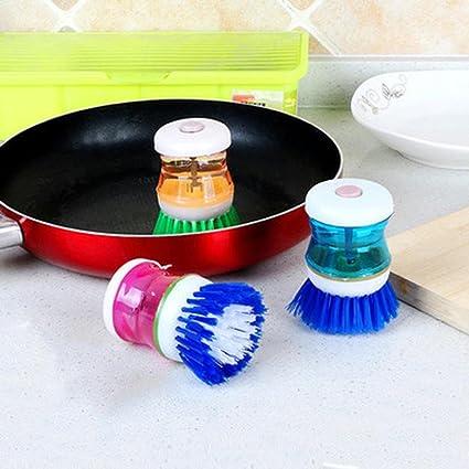 Hunpta - Cepillo de limpieza, fácil de usar, limpiador de palmas, dispensador de