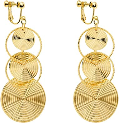Dangle Long Earrings Girls Chandelier Tiered Fashion Gold